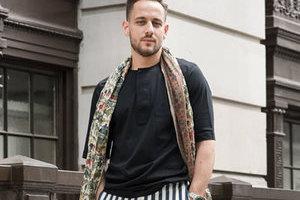2016春夏伦敦男装周场外街拍 看条纹裤如何显腿长
