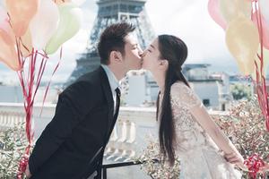 黄晓明、Angelababy唯美婚纱照曝光 埃菲尔铁塔见证浪漫爱情
